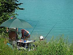 Angler am Forggensee.