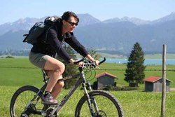 Mountainbiketour in der Riedener Landschaft.
